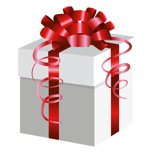 Red wrap present box Transparent PNG