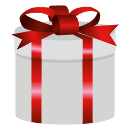 Round wrapped gift box