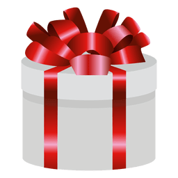 Caja de regalo envuelta redonda