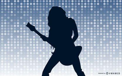 Mädchen Rocker Silhouette