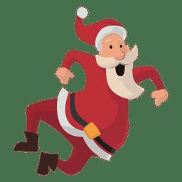 Santa clicando em desenhos animados de saltos