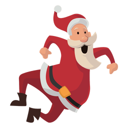 Santa haciendo clic en la historieta de los talones