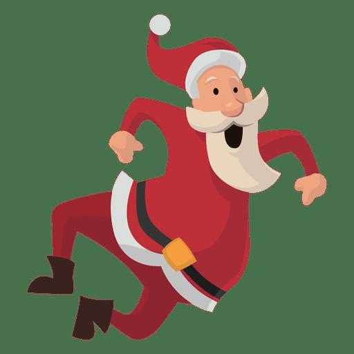 Santa clicando em desenhos animados de saltos Transparent PNG