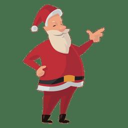Santa pointing cartoon
