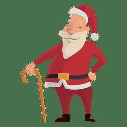 Papai Noel com desenhos animados de cana
