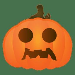 Calabaza de halloween asustada