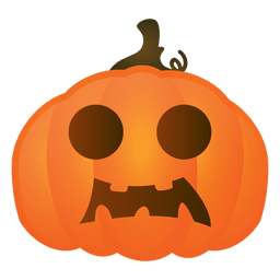Scared halloween pumpkin