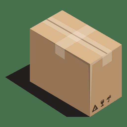 Caixa selada com sinais de embalagem Transparent PNG