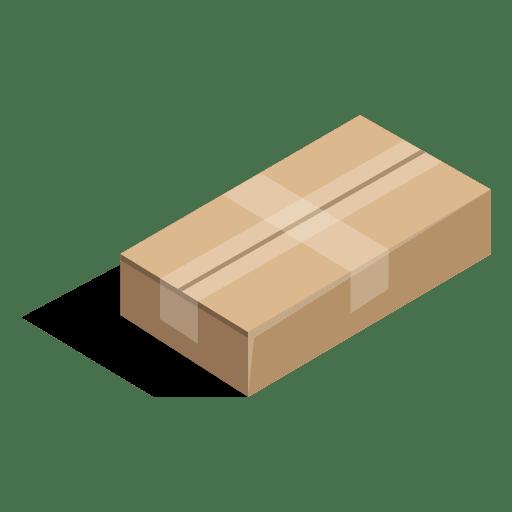 Caja sellada de cartón poco profundo. Transparent PNG
