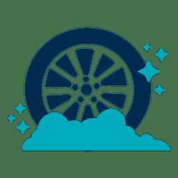 Icono de neumático de coche brillante
