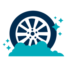 Shining car tire icon