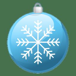 Brillante icono de adorno de Navidad azul