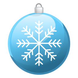 Shiny blue christmas ornament icon