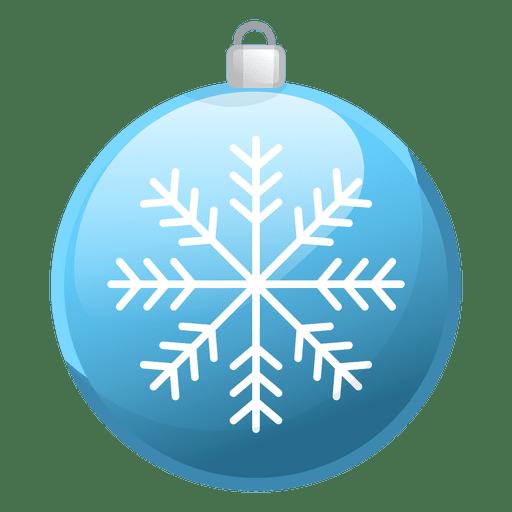 Shiny Blue Christmas Ornament Icon Transparent PNG