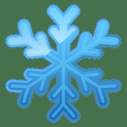 Icono de copo de nieve azul brillante