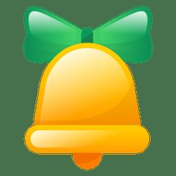 Icono de campana de Navidad brillante
