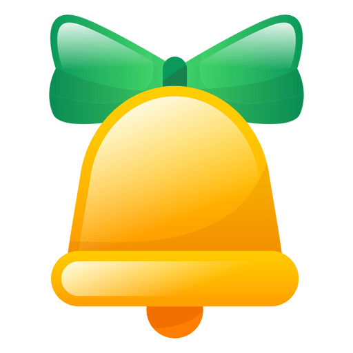Shiny christmas bell icon Transparent PNG