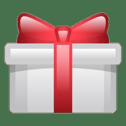 Icono de caja de regalo de Navidad brillante