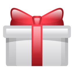 Shiny christmas gift box icon