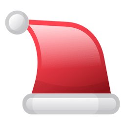 Shiny christmas hat icon