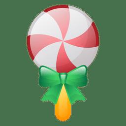 Shiny christmas lollipop icon