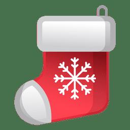 Brillante icono de calcetín de Navidad