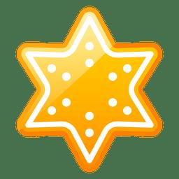Ícone brilhante da estrela do Natal