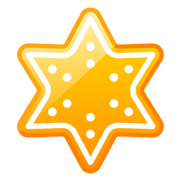 Shiny christmas star icon