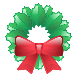Shiny christmas wreath icon