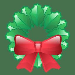 Shiny christmas wreath icon