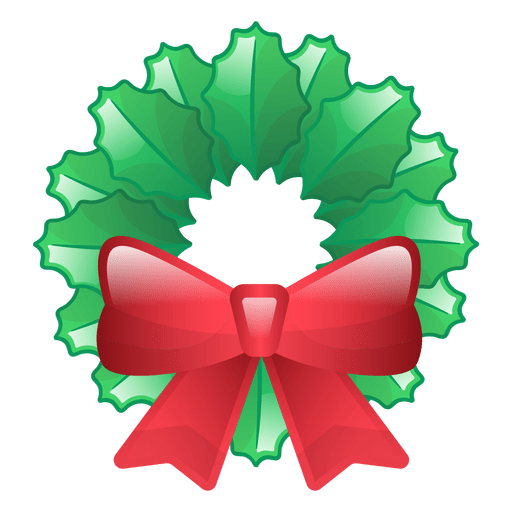 Shiny christmas wreath icon Transparent PNG