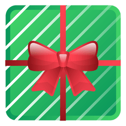Shiny green christmas gift icon