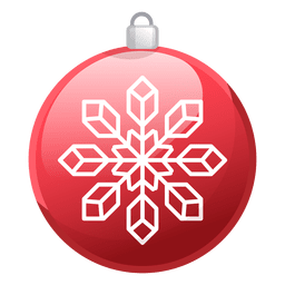 Ícone vermelho brilhante de ornamento de natal