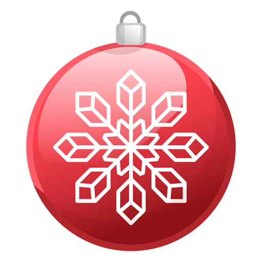 Shiny Red Christmas Ornament Icon Transparent Png Svg Vector