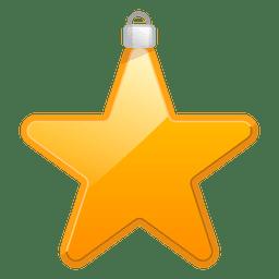 Shiny star ornament icon
