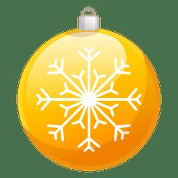 Brillante icono de adorno de Navidad amarillo