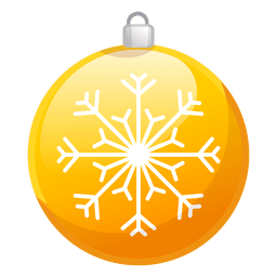 Shiny yellow christmas ornament icon