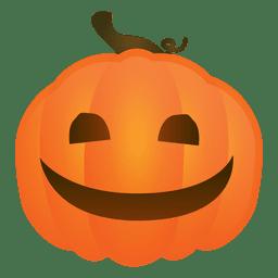 Sonriendo calabaza de halloween