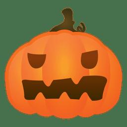 Abóbora sem palavras de halloween