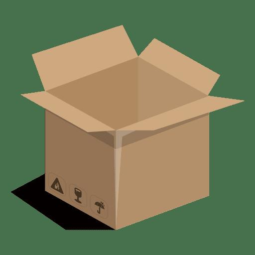 Caixa quadrada com sinais de pacote Transparent PNG