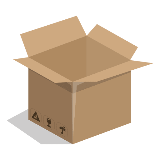 Square box with package signs Transparent PNG