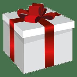Caja cuadrada cuadrada de regalo.