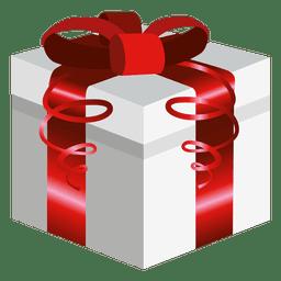 Envoltura cuadrada roja presente caja