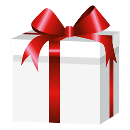Caja de regalo envuelta cuadrada