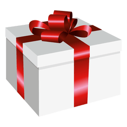 Square wrapped present box