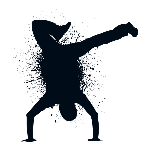 Street dance splash paint silhouette Transparent PNG