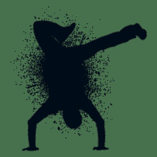 Street dance splash paint silhouette