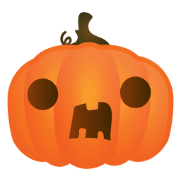 Surprised halloween pumpkin
