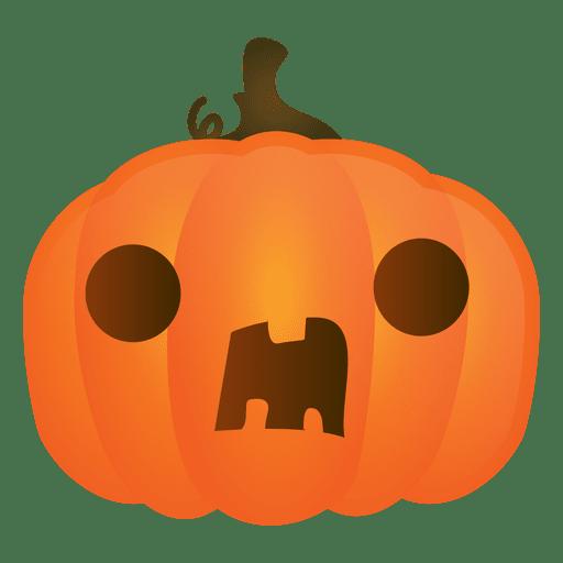 Surprised halloween pumpkin Transparent PNG
