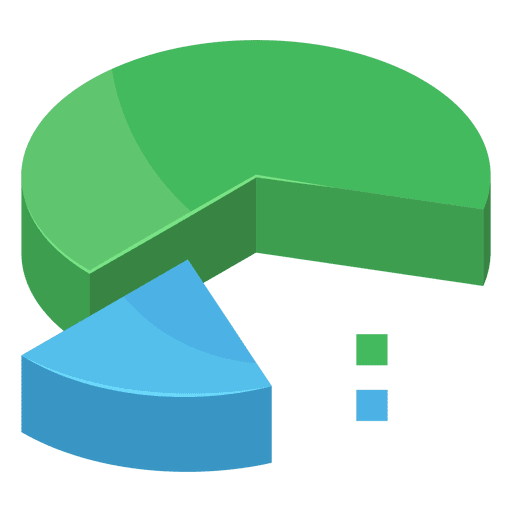 Two section pie chart Transparent PNG